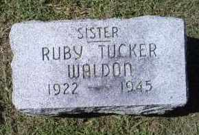 TUCKER WALDON, RUBY - Ross County, Ohio | RUBY TUCKER WALDON - Ohio Gravestone Photos