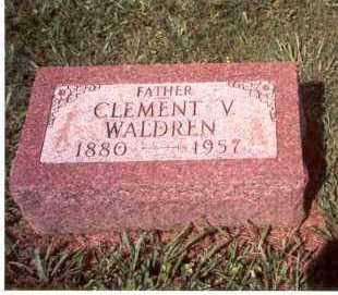 WALDREN, CLEMENT V. - Ross County, Ohio | CLEMENT V. WALDREN - Ohio Gravestone Photos