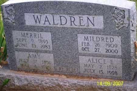 WALDREN, ALICE E. - Ross County, Ohio | ALICE E. WALDREN - Ohio Gravestone Photos