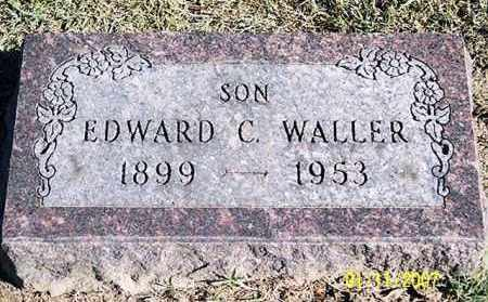 WALLER, EDWARD C. - Ross County, Ohio | EDWARD C. WALLER - Ohio Gravestone Photos