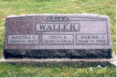 WALLER, JOHN R. - Ross County, Ohio | JOHN R. WALLER - Ohio Gravestone Photos