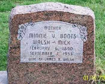 WALSH MICK, MINNIE V. - Ross County, Ohio | MINNIE V. WALSH MICK - Ohio Gravestone Photos
