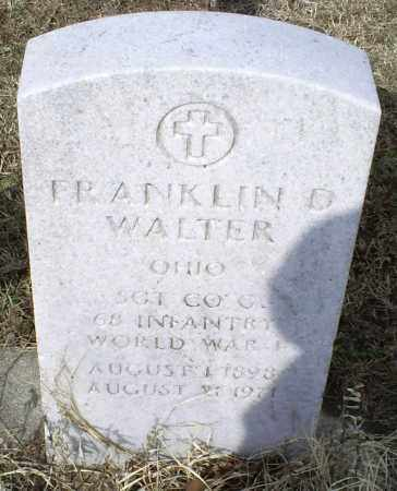 WALTER, FRANKLIN D. - Ross County, Ohio | FRANKLIN D. WALTER - Ohio Gravestone Photos