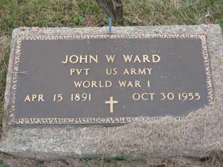 WARD, JOHN W - Ross County, Ohio | JOHN W WARD - Ohio Gravestone Photos