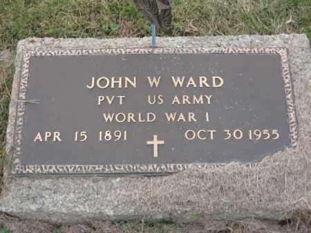 WARD, JOHN W - Ross County, Ohio | JOHN W WARD - Ohio Gravestone Photos
