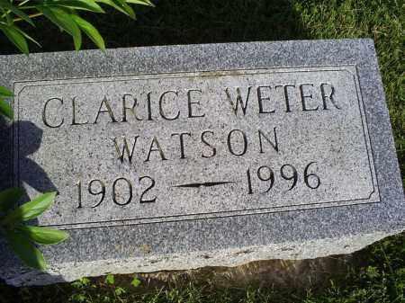 WETER WATSON, CLARICE - Ross County, Ohio | CLARICE WETER WATSON - Ohio Gravestone Photos
