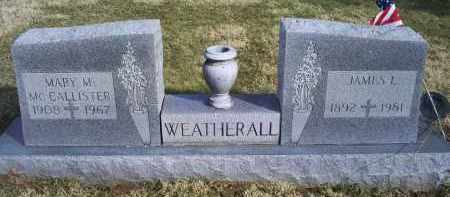 MCCALLISTER WEATHERALL, MARY M. - Ross County, Ohio | MARY M. MCCALLISTER WEATHERALL - Ohio Gravestone Photos