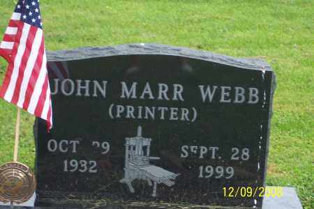 WEBB, JOHN MARR - Ross County, Ohio | JOHN MARR WEBB - Ohio Gravestone Photos