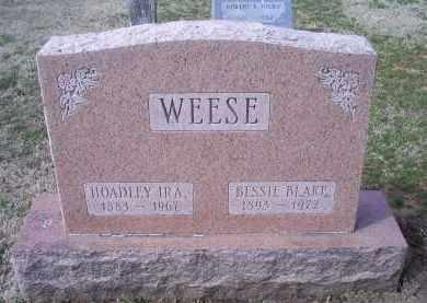 WEESE, HOADLEY IRA - Ross County, Ohio | HOADLEY IRA WEESE - Ohio Gravestone Photos