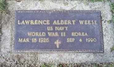WEESE, LAWRENCE ALBERT - Ross County, Ohio | LAWRENCE ALBERT WEESE - Ohio Gravestone Photos