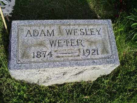 WESLEY WETER, ADAM - Ross County, Ohio | ADAM WESLEY WETER - Ohio Gravestone Photos