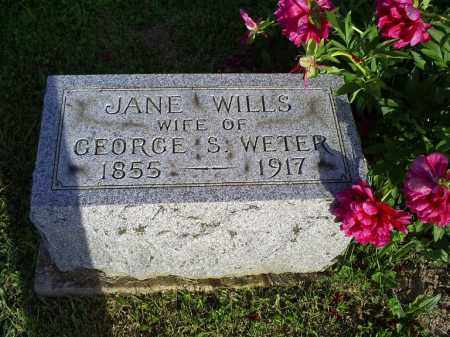 WILLS WETER, JANE - Ross County, Ohio | JANE WILLS WETER - Ohio Gravestone Photos