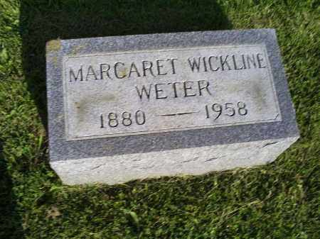 WICKLINE WETER, MARGARET - Ross County, Ohio | MARGARET WICKLINE WETER - Ohio Gravestone Photos
