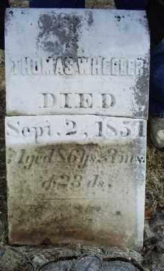 WHEELER, THOMAS - Ross County, Ohio | THOMAS WHEELER - Ohio Gravestone Photos