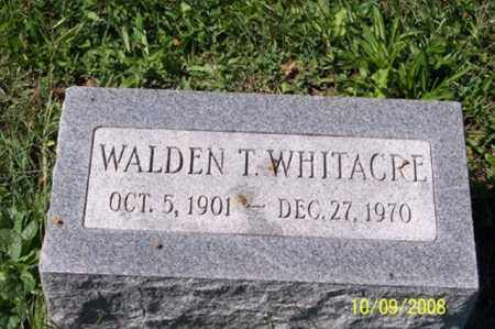 WHITACRE, WALDEN T. - Ross County, Ohio | WALDEN T. WHITACRE - Ohio Gravestone Photos