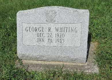 WHITING, GEORGE R. - Ross County, Ohio | GEORGE R. WHITING - Ohio Gravestone Photos