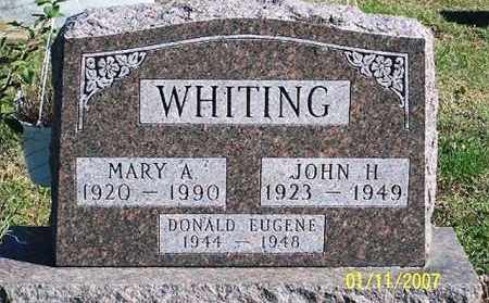 WHITING, DONALD EUGENE - Ross County, Ohio | DONALD EUGENE WHITING - Ohio Gravestone Photos