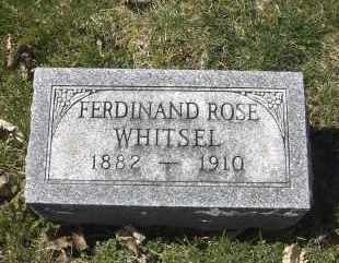 WHITSEL, FERDINAND ROSE - Ross County, Ohio | FERDINAND ROSE WHITSEL - Ohio Gravestone Photos