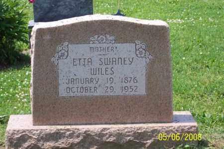 SWANEY WILES, ETTA - Ross County, Ohio | ETTA SWANEY WILES - Ohio Gravestone Photos