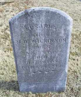 WILKINSON, SUSANNA - Ross County, Ohio | SUSANNA WILKINSON - Ohio Gravestone Photos