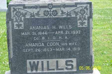 COON WILLS, AMANDA - Ross County, Ohio | AMANDA COON WILLS - Ohio Gravestone Photos