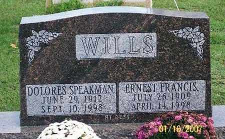 SPEAKMAN WILLS, DOLORES - Ross County, Ohio | DOLORES SPEAKMAN WILLS - Ohio Gravestone Photos