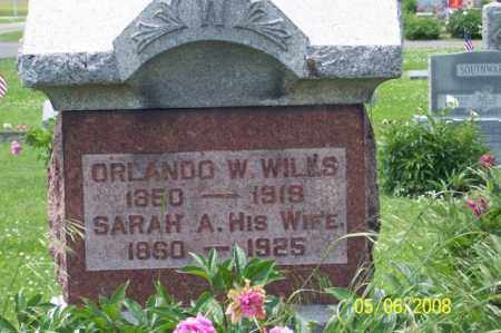WILLS, SARAH A. - Ross County, Ohio | SARAH A. WILLS - Ohio Gravestone Photos