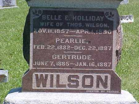 HOLLIDAY WILSON, BELLE E - Ross County, Ohio | BELLE E HOLLIDAY WILSON - Ohio Gravestone Photos