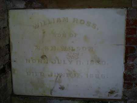 WILSON, WILLIAM ROSS - Ross County, Ohio | WILLIAM ROSS WILSON - Ohio Gravestone Photos