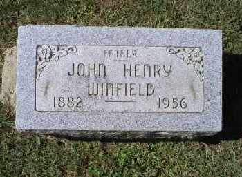 WINFIELD, JOHN HENRY - Ross County, Ohio | JOHN HENRY WINFIELD - Ohio Gravestone Photos