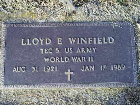 WINFIELD, LLOYD E. - Ross County, Ohio | LLOYD E. WINFIELD - Ohio Gravestone Photos