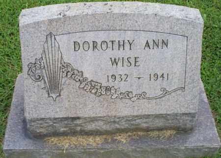 WISE, DOROTHY ANN - Ross County, Ohio | DOROTHY ANN WISE - Ohio Gravestone Photos