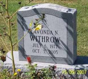 WITHROW, LAVONDA N. - Ross County, Ohio | LAVONDA N. WITHROW - Ohio Gravestone Photos