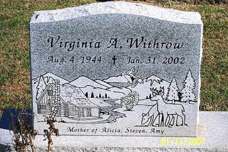 WITHROW, VIRGINIA A. - Ross County, Ohio | VIRGINIA A. WITHROW - Ohio Gravestone Photos