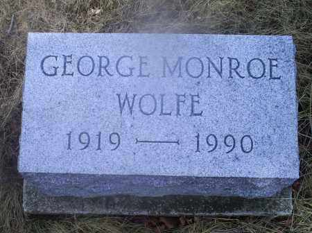 WOLFE, GEORGE MONROE - Ross County, Ohio | GEORGE MONROE WOLFE - Ohio Gravestone Photos