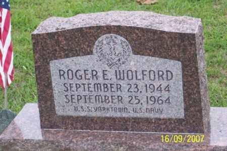 WOLFORD, ROGER E. - Ross County, Ohio | ROGER E. WOLFORD - Ohio Gravestone Photos