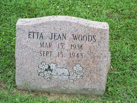 WOODS, ETTA JEAN - Ross County, Ohio | ETTA JEAN WOODS - Ohio Gravestone Photos