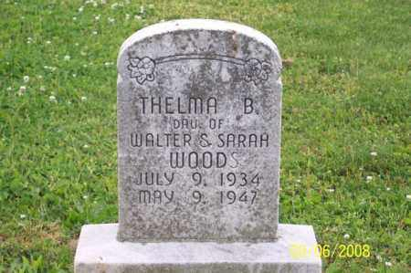 WOODS, THELMA B. - Ross County, Ohio | THELMA B. WOODS - Ohio Gravestone Photos