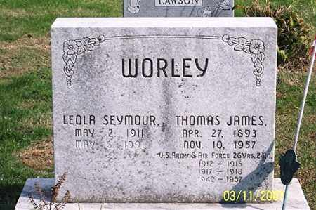 WORLEY, THOMAS JAMES - Ross County, Ohio | THOMAS JAMES WORLEY - Ohio Gravestone Photos
