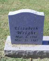 WRIGHT, ELIZABETH - Ross County, Ohio | ELIZABETH WRIGHT - Ohio Gravestone Photos