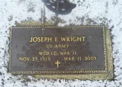 WRIGHT, JOSEPH E. - Ross County, Ohio | JOSEPH E. WRIGHT - Ohio Gravestone Photos