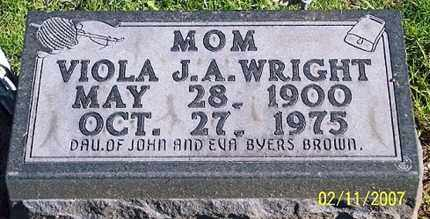 BROWN WRIGHT, VIOLA J. A. - Ross County, Ohio | VIOLA J. A. BROWN WRIGHT - Ohio Gravestone Photos