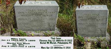 BLACK YAPLE, MARTHA ANN - Ross County, Ohio | MARTHA ANN BLACK YAPLE - Ohio Gravestone Photos