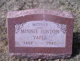 YAPLE, MINNIE - Ross County, Ohio | MINNIE YAPLE - Ohio Gravestone Photos