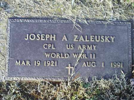 ZALEUSKY, JOSEPH A. - Ross County, Ohio | JOSEPH A. ZALEUSKY - Ohio Gravestone Photos