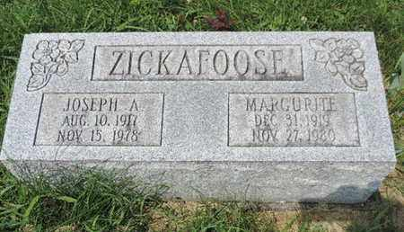 ZICKAFOOSE, JOSEPH A. - Ross County, Ohio | JOSEPH A. ZICKAFOOSE - Ohio Gravestone Photos