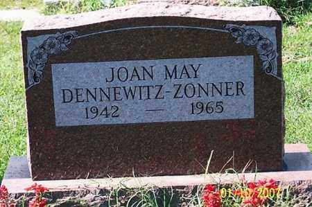 DENNEWITZ ZONNER, JOAN MAY - Ross County, Ohio   JOAN MAY DENNEWITZ ZONNER - Ohio Gravestone Photos