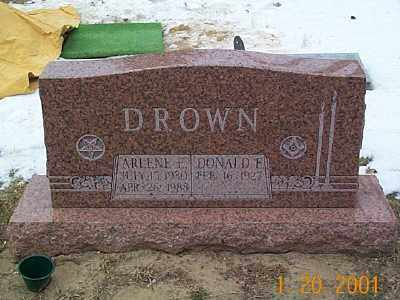 DROWN, DONALD E. - Sandusky County, Ohio | DONALD E. DROWN - Ohio Gravestone Photos