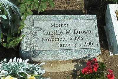 DROWN, LUCILLE M - Sandusky County, Ohio | LUCILLE M DROWN - Ohio Gravestone Photos
