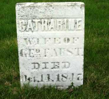 FAUST, CATHARINE - Sandusky County, Ohio | CATHARINE FAUST - Ohio Gravestone Photos